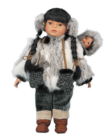 18'' Olo, Eskimo, with baby