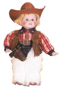 14'' Cowboy & Cowgirl, set