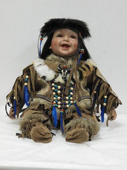 S20570 20 Quot Burning Fire Porcelain Native American