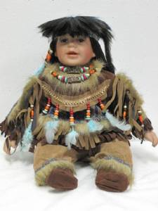 Medium Native American Porcelain Dolls By Traditions Doll